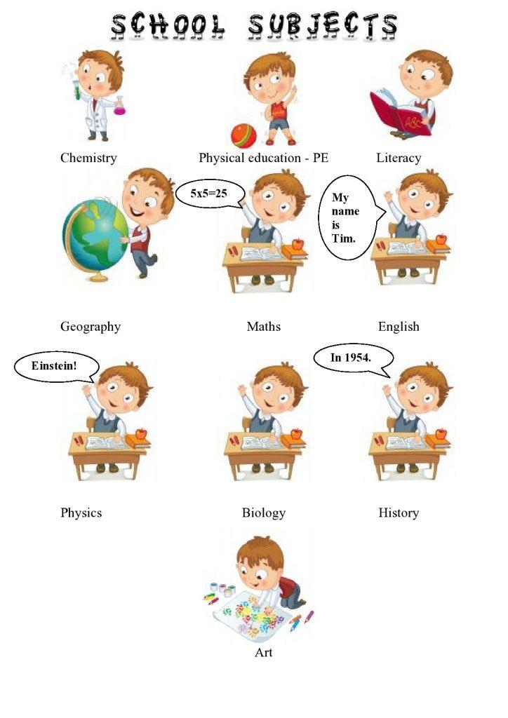 Materie scolastiche in inglese
