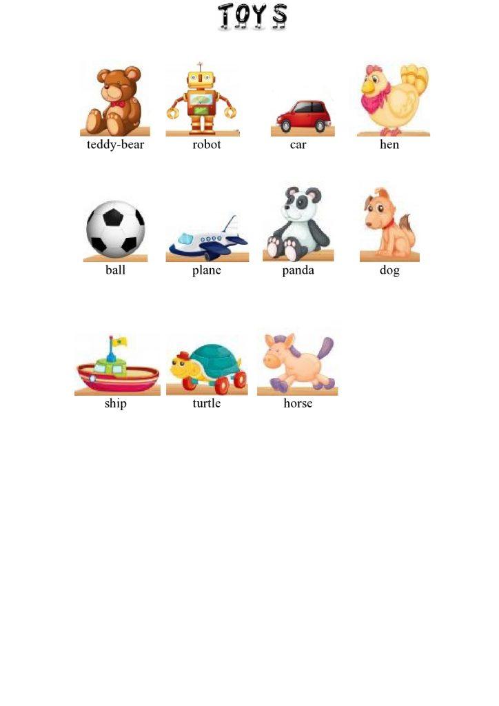 Giocattoli in inglese