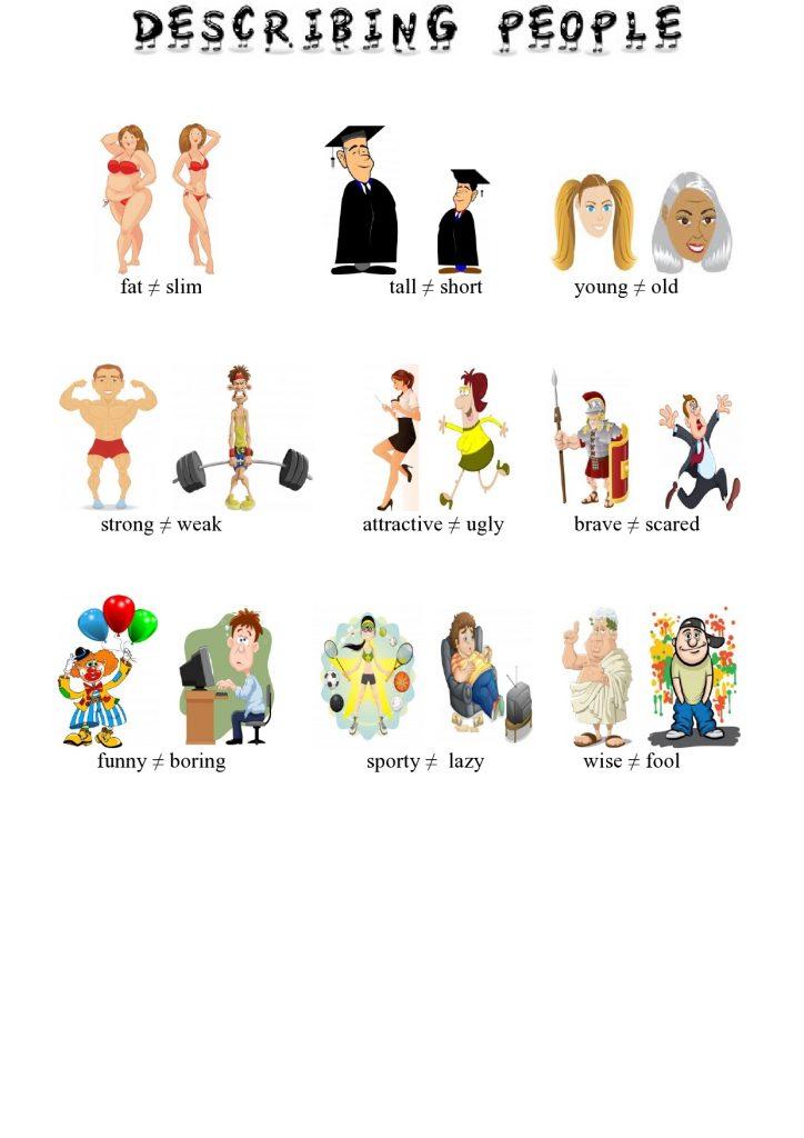 Descrivere le persone in inglese