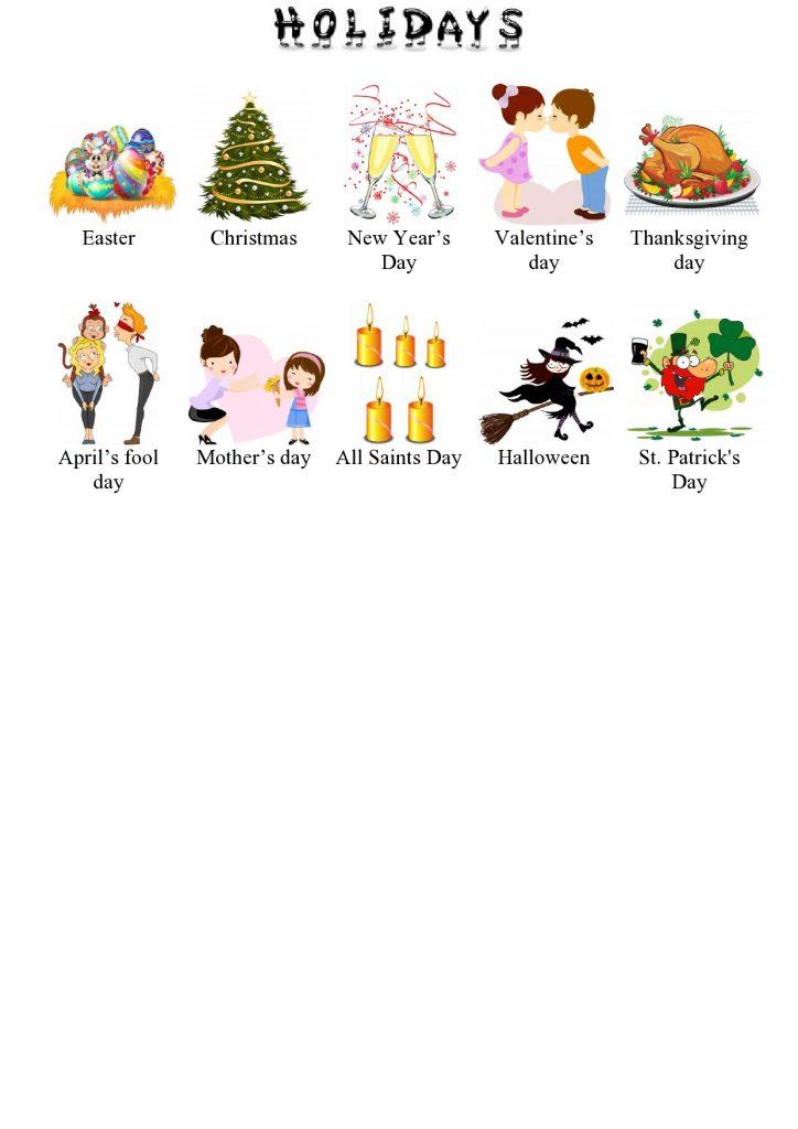 Festività in inglese